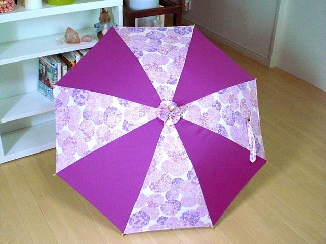 紫陽花の日傘