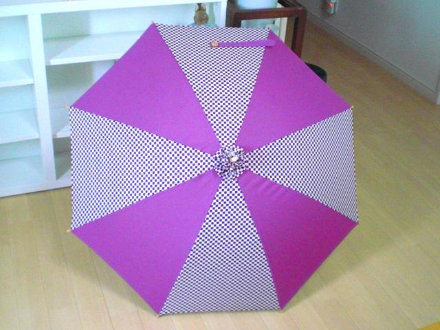 市松模様の日傘